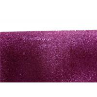Wall Paper Sparkle Glitter Fabric , Diy Decoration PVC Glitter Fabric Manufactures