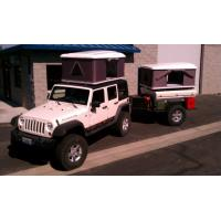 CE Approved Hard Shell Roof Top Tent , Jeep Wrangler Tents For Camping Manufactures