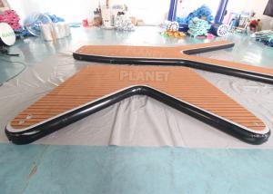 Drop Stitch V Shape Boat Dock Inflatable Sea Water Pontoon Boat Inflatable Platform Floating Pontoon Jet Ski Dock Manufactures
