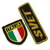 Embroidered Iron On Patches For Clothes , Single Custom Embroidered Patches Manufactures