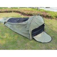 Canvas Famliy 2 Man Swag Tent , YKK Zipper Swag Bag Tent With Aluminum Pole Manufactures