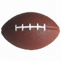 Soft Foam PU Rugby Stress Ball, Customized Logos, Sizes and Shapes are Accepted Manufactures