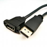 Professional Displayport 1.2 Cable Black Color For LCD Display Screen Manufactures