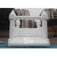 Outdoor 5x4m adults wedding white bouncy castle for wedding parties or events Manufactures
