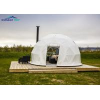 Buy cheap Light weight Hot Galvanized Steel Geodesic Event Domes / Garden Dome Tent from wholesalers