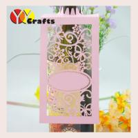 Buy cheap Pink wedding theme Wine Claims , laser cut paper wine glass tag for wine bottle from wholesalers