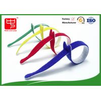Multi Colored Velcro Cable Ties Roll , Hook & Loop Fastening Cable Ties T Shape Manufactures
