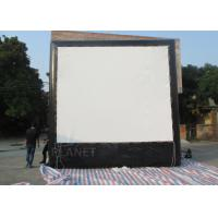 Air Sealed Backyard Inflatable Movie Screen , Rear Projection Screen For Party Manufactures