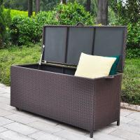 Buy cheap High quality and huge capacity outdoor rattan storage boxes with wheel from wholesalers