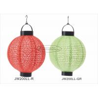 Eyelet Outdoor Paper Lantern Lights , Battery Operated Paper Lanterns For Weddings Manufactures