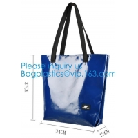 1000D Waterproof PVC Tarpaulin Customized Shopping Bag, Daily Women Shoulder Tote Bags Wholesale Price Manufactures