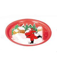 Round Christmas Print Serving Tin Trays Manufactures