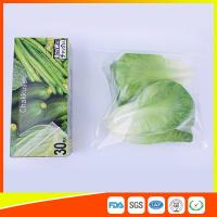 Resealable LDPE Clear Ziplock Freezer Storage Bags For Vegetable Biodegradable Manufactures