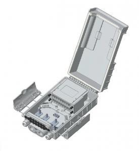 Buy cheap Digital FTTH Fiber Optic Terminal Box Outdoor Mounted Plastic Splitter Cassette from wholesalers