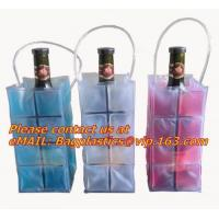 Promotional PVC cooler bag for wine, Custom Refillable Travel Plastic Pvc Bottle Ice Tote Red Wine Cooler Bag As Gift Wh Manufactures