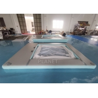Anti Jellyfish Yacht Inflatable Floating Ocean Pool With Net Manufactures