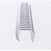 Notebook Wire Spiral Binding , 3/8 Inch Electroplating Double Wire Ring Manufactures