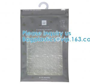 BiodegradableHanger Bag With Zip Lock On The Top, Frosted K Bag Hanger Bag For Clothes, EVA Frost Drawstring Bag Manufactures