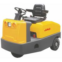 Battery Operated  4 Wheel Platform Truck , Airport Tow Tractor High Range Steering Design Manufactures