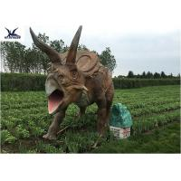 Life Size Farm Animal Models , Full Size Triceratops Dinosaur Lawn Sculpture  Manufactures