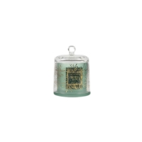 Green Fragrance Oil Natural Soy Wax Scented Candle with Glass Cover Manufactures