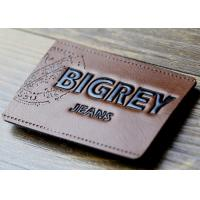 Waterproof Leather Embossed Patches Pu Leather Labels Fashionable Design Manufactures