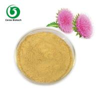 Yellowish Brown Milk Thistle Extract Powder Silymarin 80% For Protecting Liver Manufactures