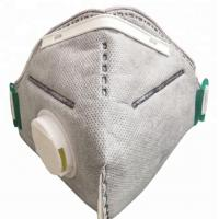 Buy cheap Grey Clean Room Accessories Carbon Dust Mask With Adjustable Metal Nose Band from wholesalers