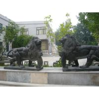 Marble stone sculpture walking lions sculpture,outdoor stone sculpture supplier Manufactures