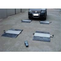 High Precision Portable Truck Axle Scales 40 Ton 120% Overload Protection Manufactures