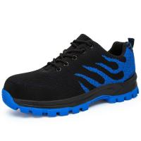 Anti Slippery Safety Running Shoes Breathable Lightweight Mesh Upper Manufactures