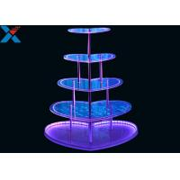 Heart Shape Perspex Display Stand  , 5 Layers Champagne Acrylic Display Shelves Manufactures