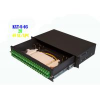 Network 2U 48 Core Rack Fiber Optical Patch Panel Hand Pull Type 482mmx240mm Manufactures