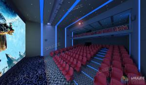 International 50-120 People 3D Cinema With 120HZ Projector Silver Screen Manufactures