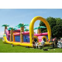 Commercial Grade Inflatable Obstacle Race Course Bounce House With Repair Kit Manufactures