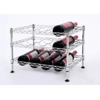 Mini Wine Rack Metal Display Shelf Carbon Steel Material Size: 45*30*32CM Manufactures