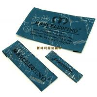 Customized Damask Woven Clothing Labels / Woven Garment Tags High Density Manufactures