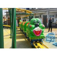 Green Worm Shape Kiddie Roller Coaster For Large Parks And Tourist Attractions Manufactures