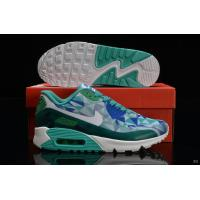 Nike Air Max 90 Hyperfuse Women Green Blue White Shoes Manufactures