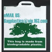 compostable custom printed t-shirt plastic bag with own logo, cornstarch made 100% biodegradable Manufactures