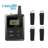 black color Portable Tour Guide System communication system for travel group Manufactures