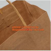 Promotional paper bag in fancy paper and foil logo, Fashion gift paper bag with ribbon handle, Special handle design pap Manufactures