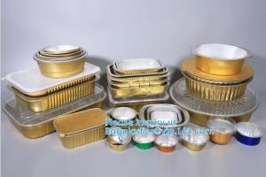 Rectangle Shaped Disposable Aluminum Foil Pan Take-Out Food Containers With Aluminum Lids/Without Lid Manufactures