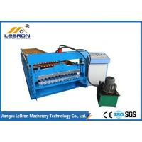 45# forged steel corrugated roof sheet roll forming machine,colorful metal roof Manufactures