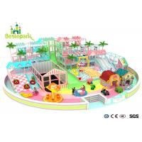 Macaron Theme Kids Plastic Indoor Playground With Slide Multi - Functional Manufactures