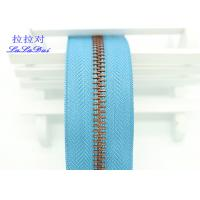 Bright Color Tape 10 Inch Separating Zipper , Long Chain Coil Zipper By The Yard Manufactures