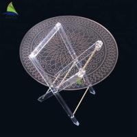 Buy cheap Plexi - Glass Acrylic Dining Table Round Outdoor Garden Acrylic Folding Table from wholesalers