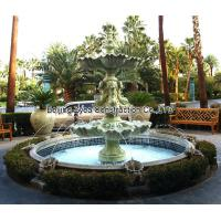 Garden stone fountain with pool, outdoor green marble fountain , decorative fountain Manufactures