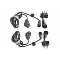Street LED 3 Pin 1000mm Waterproof Power Cord Manufactures