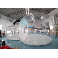 Christmas Decor Clear Inflatable Bubble Tent With Blowing Snow Manufactures
